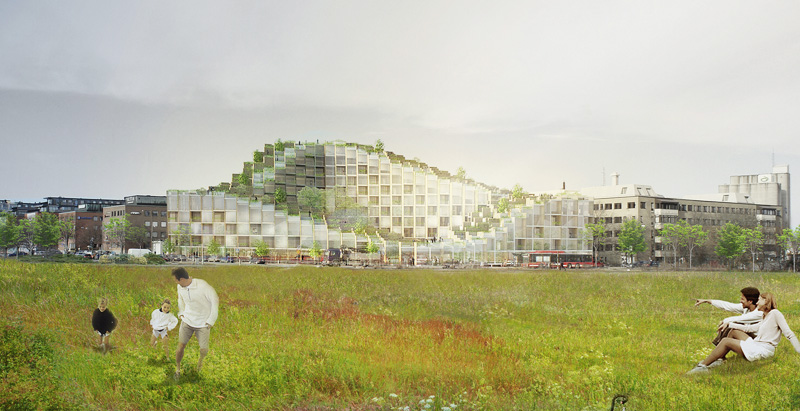 BIG designs lush, terraced mixed-use building