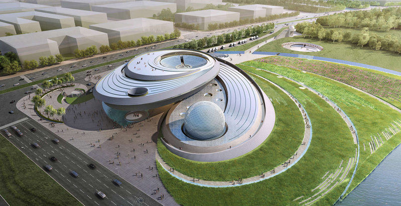 """Architecture based on """"astronomical principles"""" for new planetarium in Shanghai"""