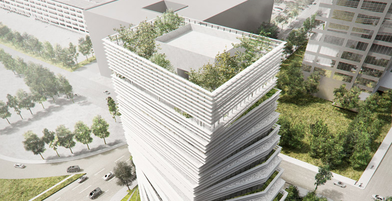 Construction begins for Kengo Kuma-designed twisted Rolex tower in Dallas
