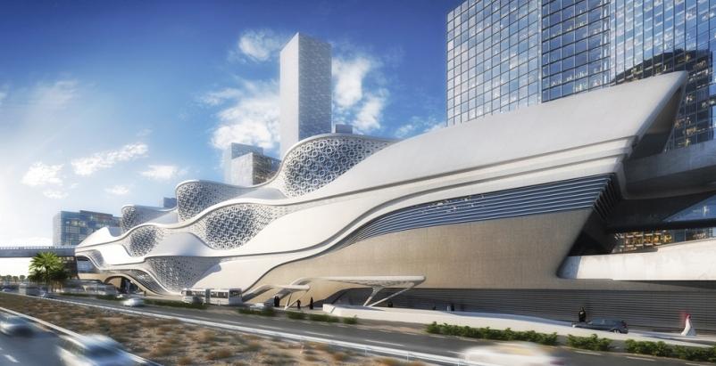 Riyadh Metro Station, designed by Zaha Hadid Architects, with engineering servic