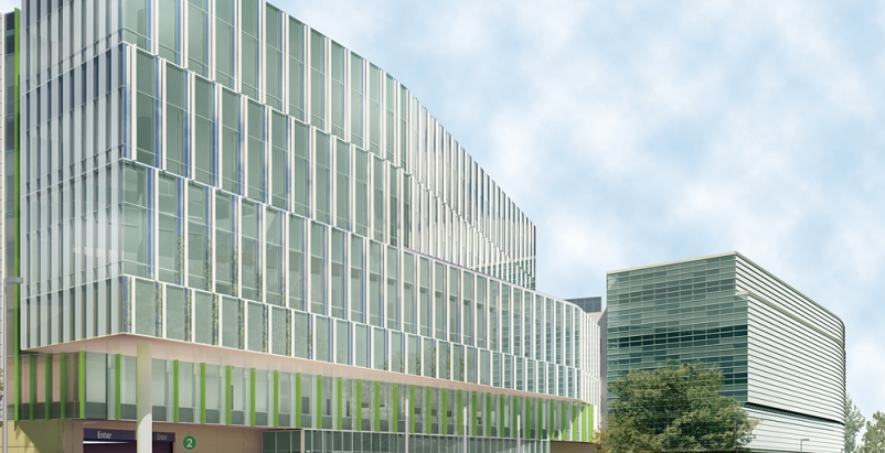 The five-story, 480,000-sf Center for Advanced Care at Froedtert & the Medical C