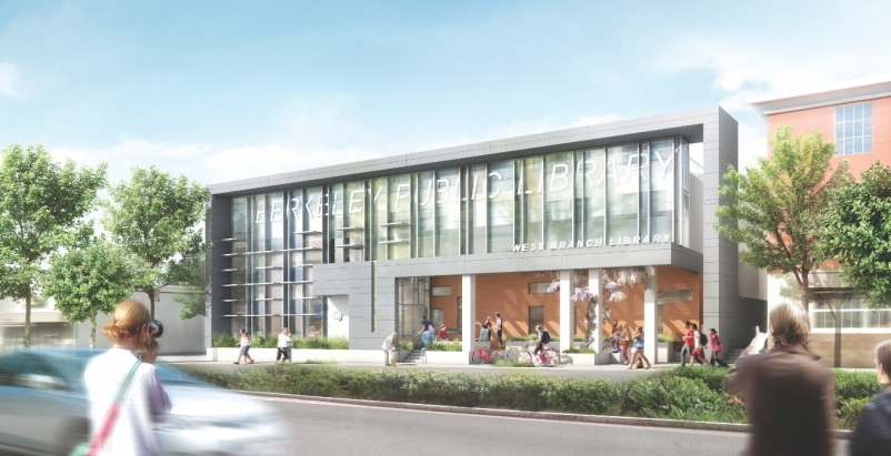 Due to open in August 2013, the West Branch library in Berkeley, Calif., replace