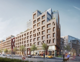 Courtyards make Brooklyn's Bushwick II residential development its own miniature city
