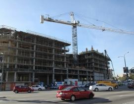 Designed by McLarand Vasquez Emsiek & Partners, Inc., the eight-story buildings