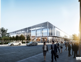 Louisville renovate expand convention center Renderings floor plans EOP Architects HOK