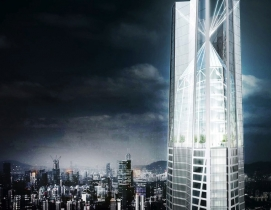 bKL Architecture proposes world's third tallest tower for China