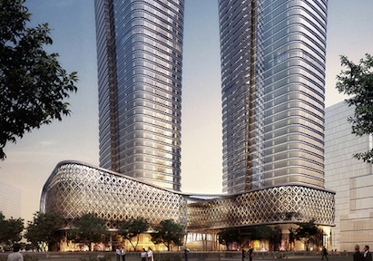A ground-level podium will serve as a plinth for two towers in the new Ziraat Ba