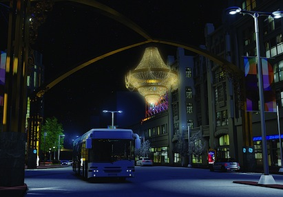 This 20-foot fixture, billed as the world's largest outdoor chandelier, is the c
