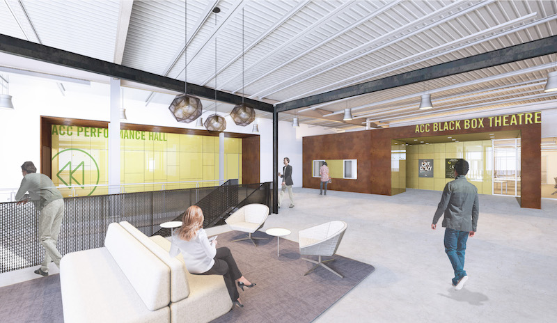 ACC new digital media center, interiors designed by Perkins+Will