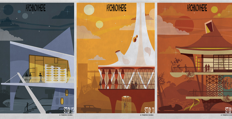 Illustrator Federico Babina imagines architecture from nowhere