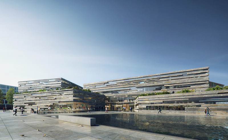 Facade of the new Landsbankinn building