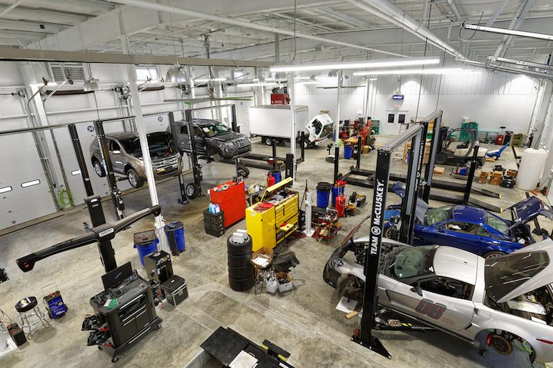 McCluskey Headquarters garage