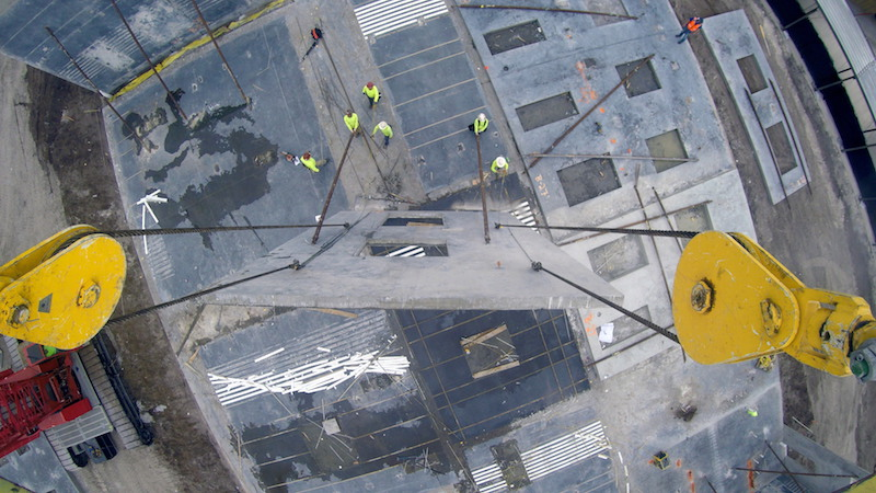 Tilt panel erection at Nease High School in Ponte Verda Florida
