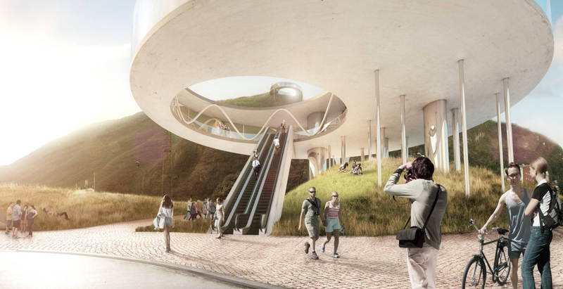 Snøhetta designs ring-shaped cable car station in Italian Alps