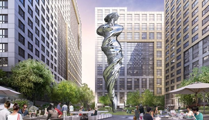 Piazza in San Francisco will feature a 92-foot stainless steel statue