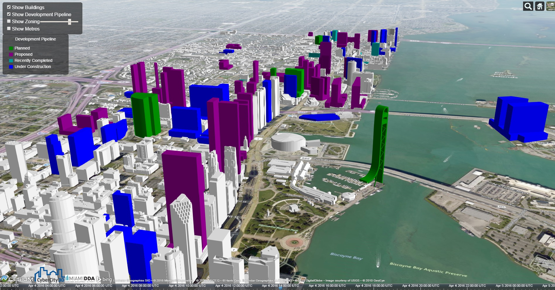 Interactive 3d Map Shows Present And Future Miami Skyline
