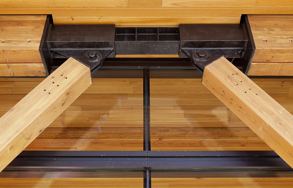 Exposed Glulam Framework Offers Quiet Complement To