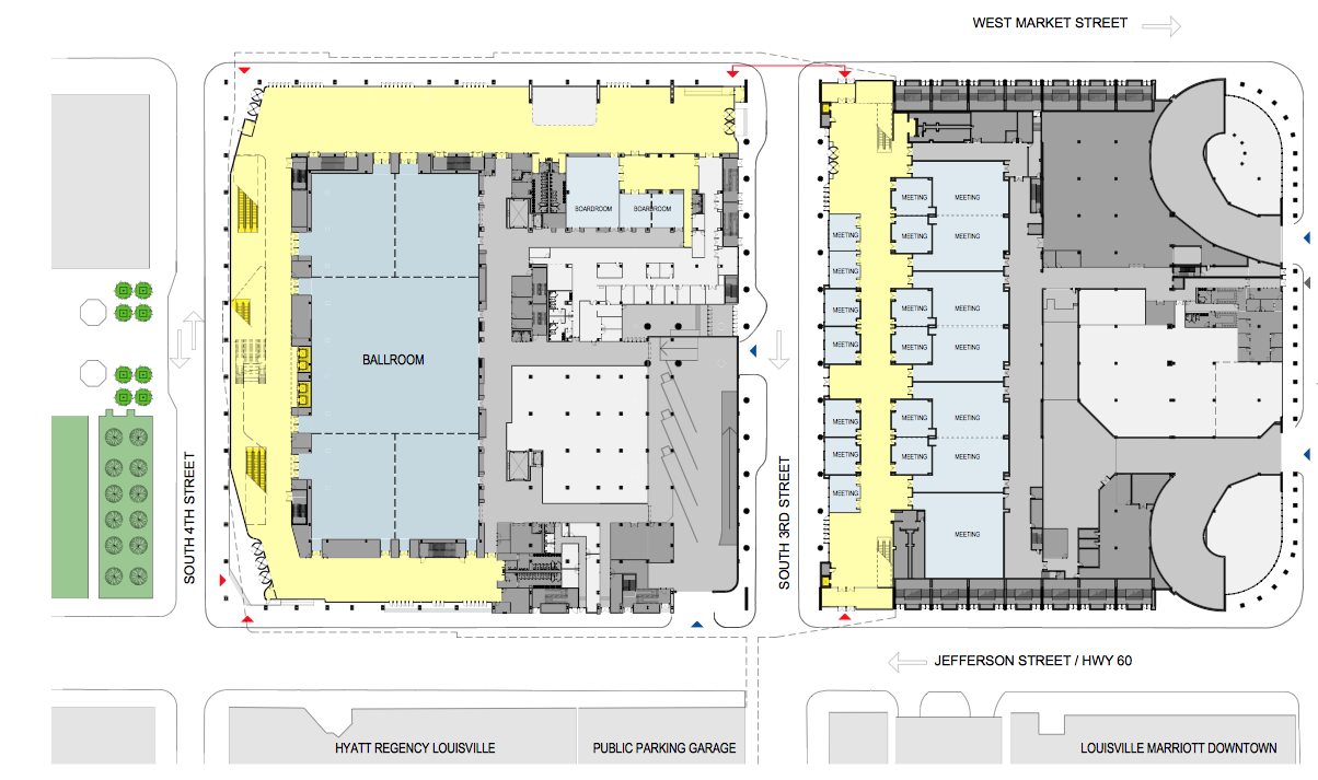 Louisville convention center to undergo 180 million for Continental homes of texas floor plans