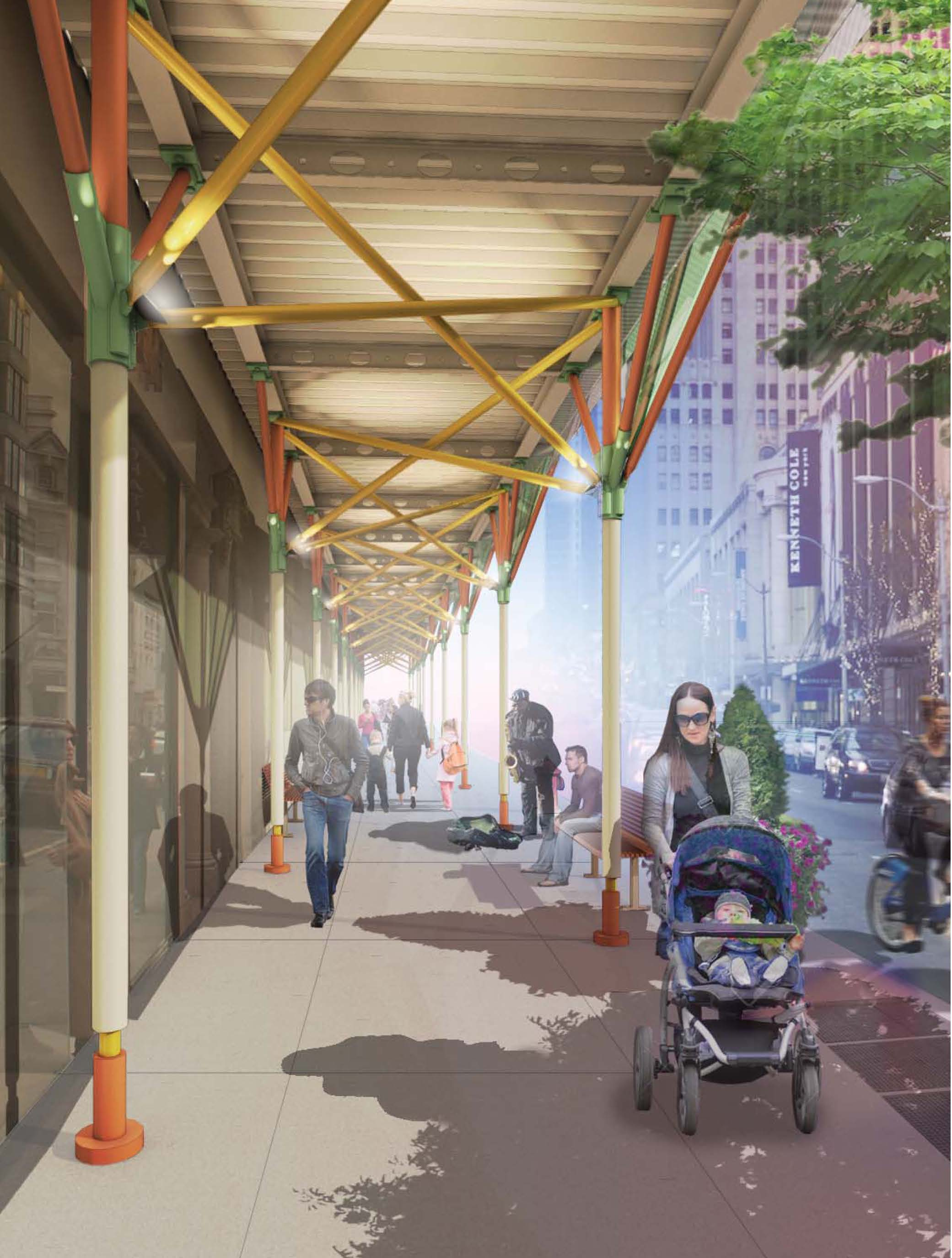 Four winners named in nyc sidewalk shed competition for New construction design ideas