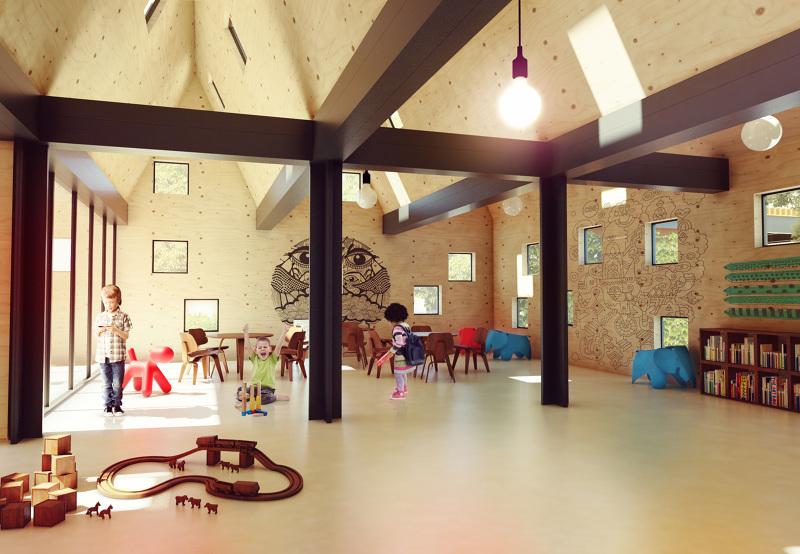 Modular Classroom Rfp ~ Polish architect designs modular 'kids city kindergarten