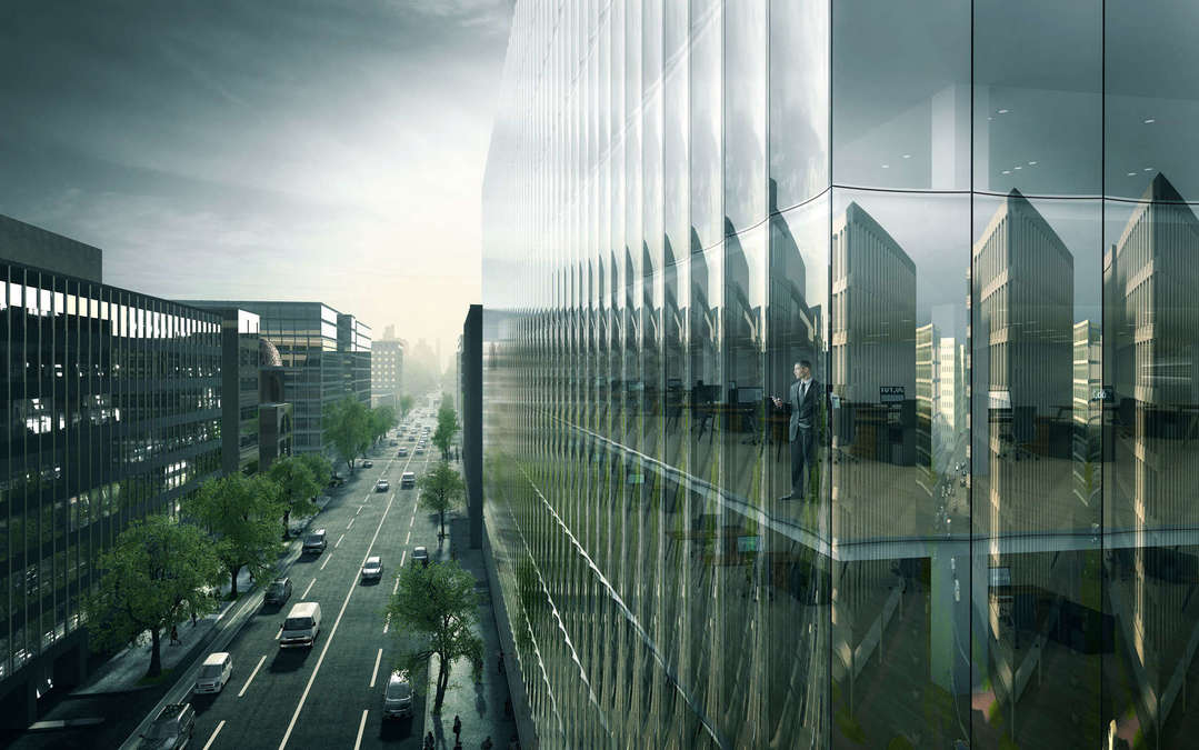 Curved Glass Curtains Will Give Washington D C Office