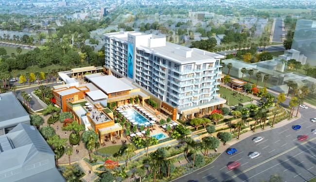 Pasa Hotel & Spa in Huntington Beach, Calif., designed by WATG (hotel design) a