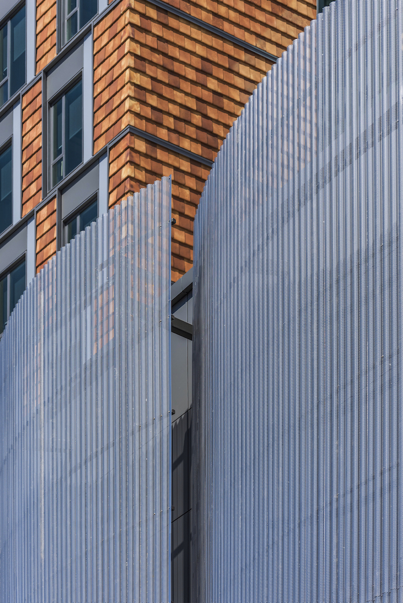 Centria panels on the New England Conservatory Student Life Performance Center