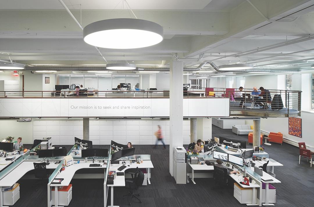 Modern bi-level office space