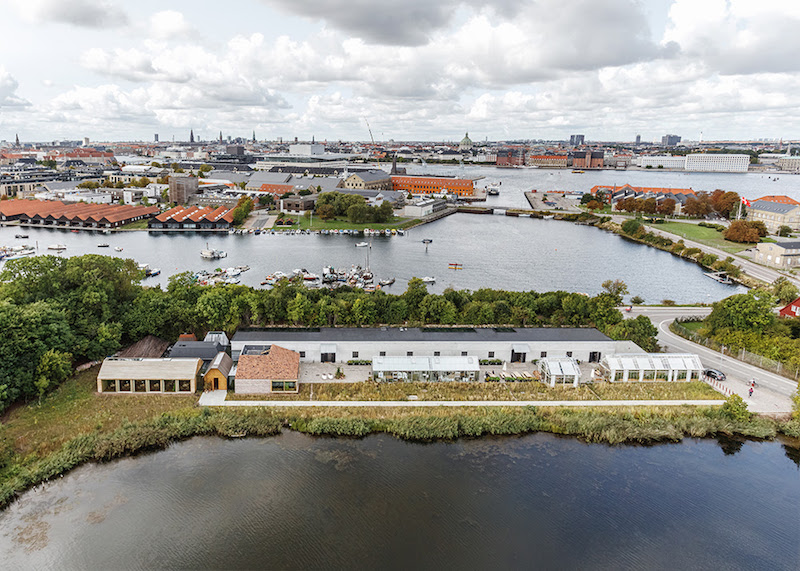 aerial view of noma