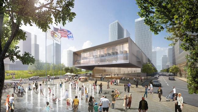 HOK's proposal for the Obama Presidential Library integrates the facility into a