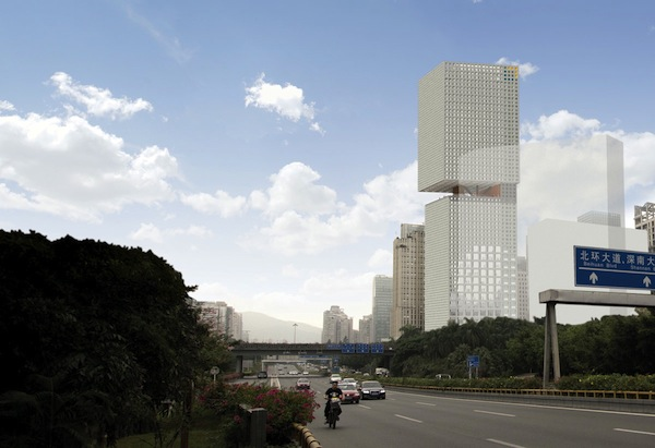 OMA's 'perimeter core' design wins competition for Essence Financial Building in