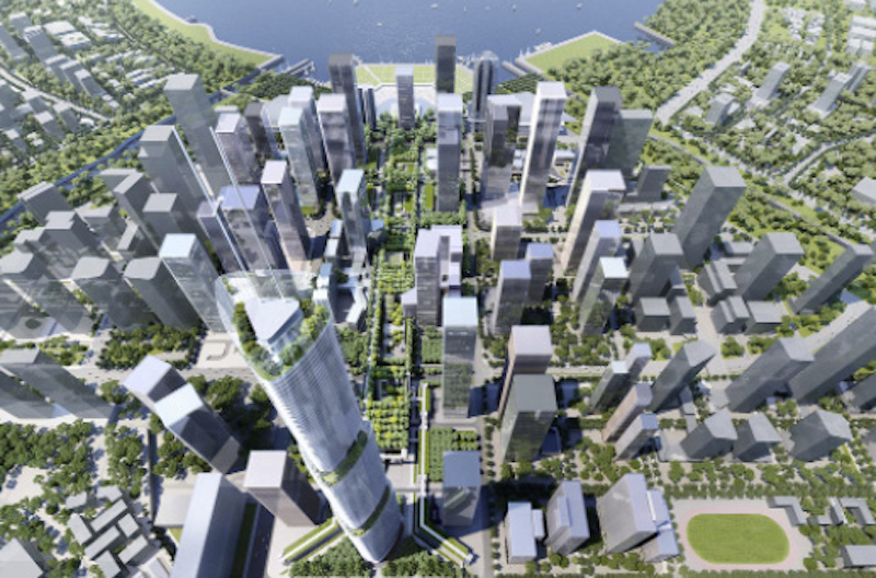Aerial view of Shenzhen sky garden