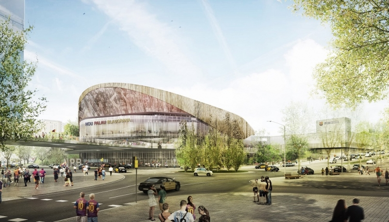 """Barcelona hoops arena will rattle opponents with """"wall"""" of raucous fans"""