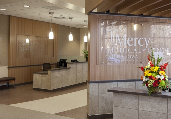 The 25,493-sf Emergency Department at Mercy Medical Center-North Iowa was built