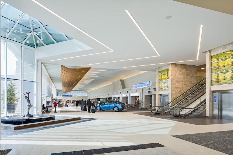 A terminal in an airport