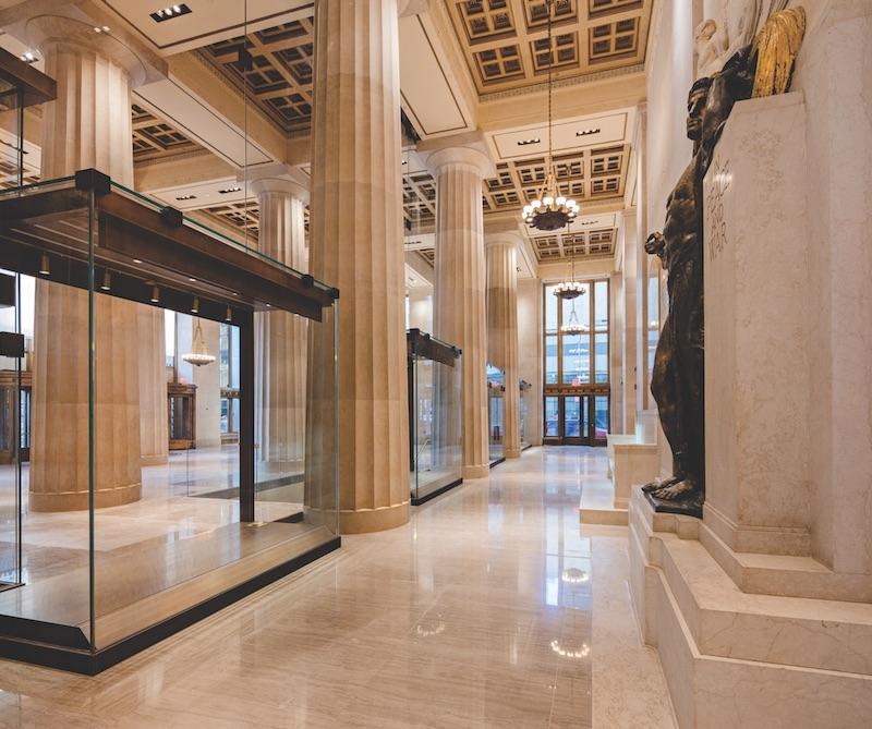 The public galleria at 195 Broadway