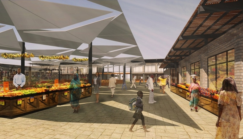 PAB Architects designs marketplace to centralize Senegal street vending
