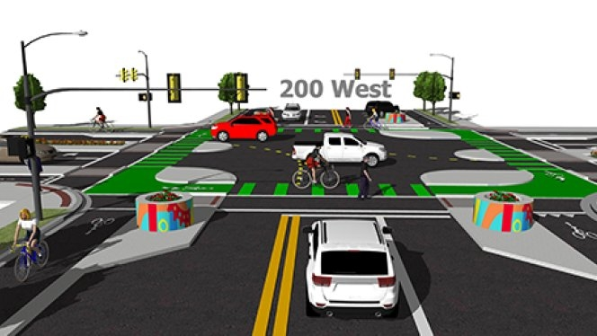 Salt Lake City on track to build first protected bicycle intersection in the U.S.