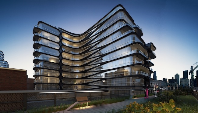 520 West 28th Street. Rendering courtesy of Related Companies and Zaha Hadid Arc