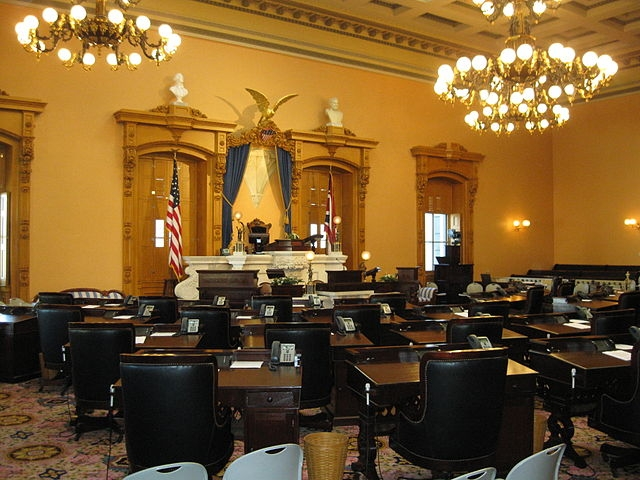 Ohio state Senate chambers. Photo: Wikipedia