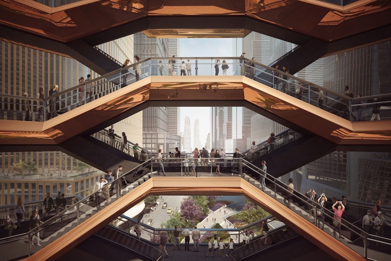 Incroyable New Yorku0027s Hudson Yards To Feature 16 Story Staircase Sculpture