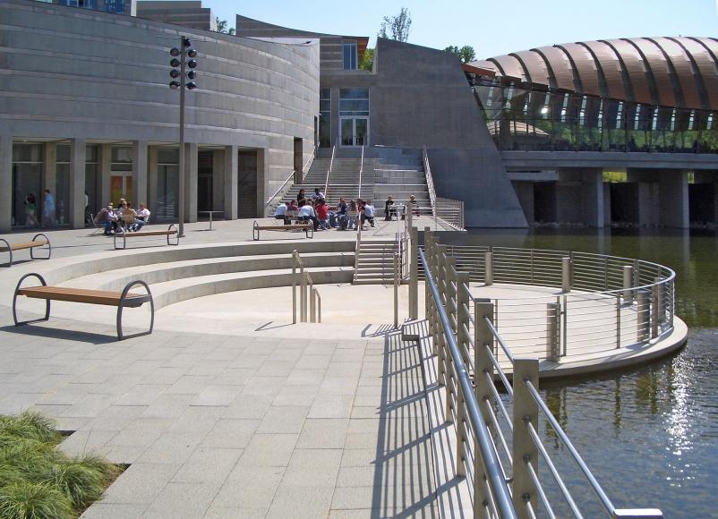 The Crystal Bridges Museum of American Art in Bentonville Ark., designed by Safd