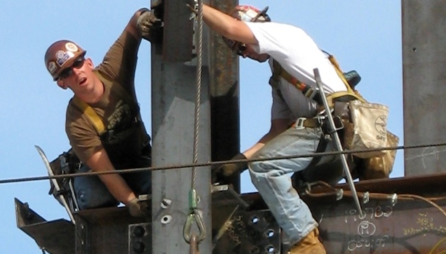 """Fall prevention is the theme of OSHA's """"Stand Down"""" campaign. Photo: Wikimedia C"""
