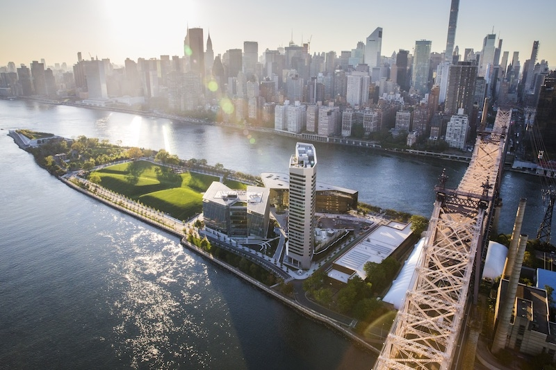 Aerial view of Cornell Tech Campus