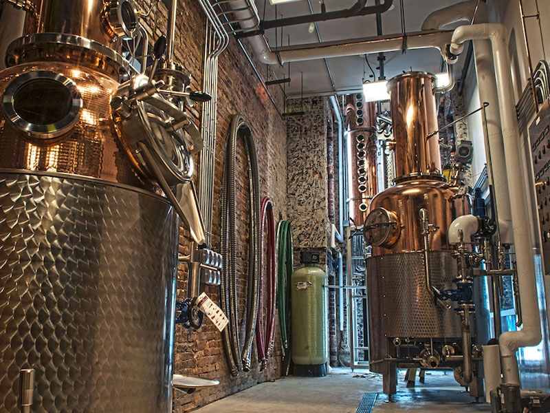 The Centerpieces Of District Distilling In Washington DC Are Its Stills That Make Gin Vodka Rum And Whiskey A Law Change 2014 Allowed Local