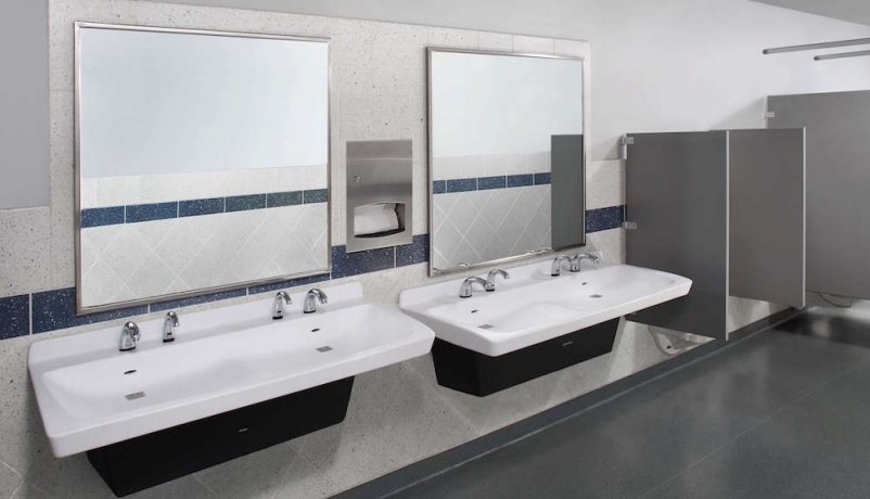Survey Americans Avoid Touching Handles But Use Their Phones In Custom Bradley Bathroom Partitions Plans