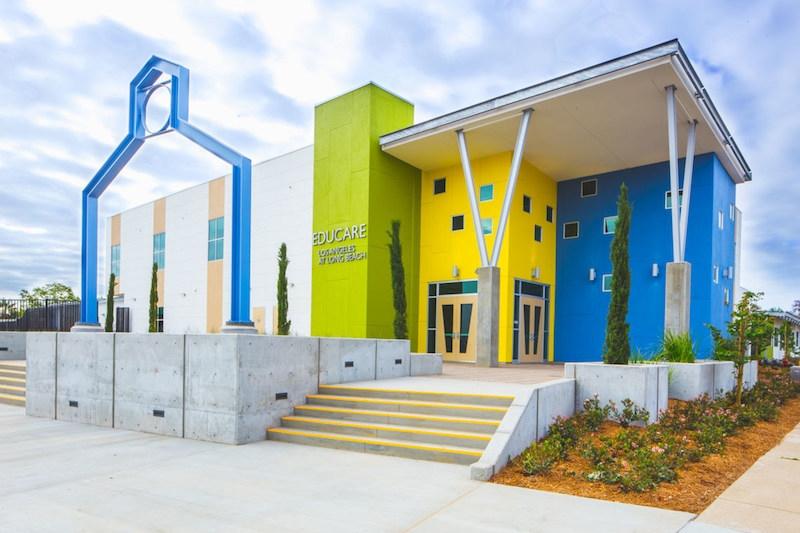 Educare Los Angeles at Long Beach modular building