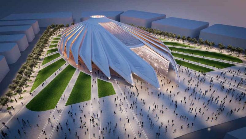 Santiago Calatrava designs falcon pavilion for UAE at Dubai Expo