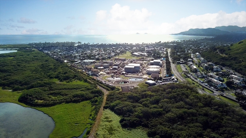 Kaneohe Kailua Wastewater Conveyance and Treatment Facilities project aerial view
