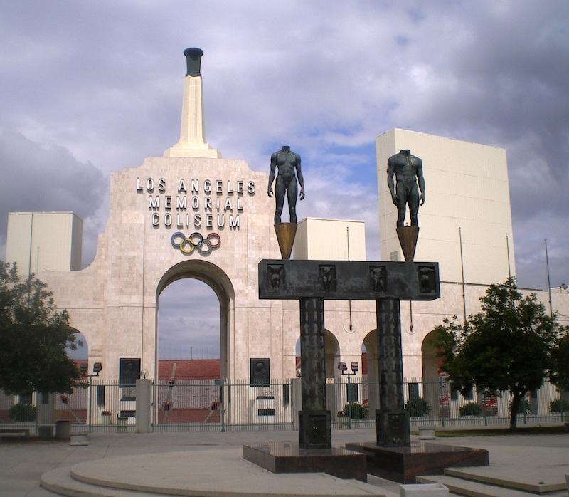 The Memorial Coliseum's Peristyle